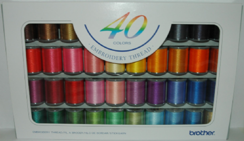 Brother Embroidery   Threads box of 40 B244